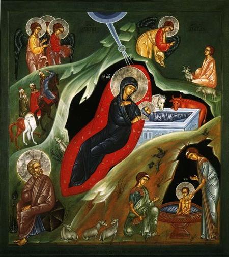 Рождество-Христово-новонаписанная-икона