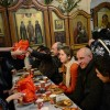 Рождественский обед для бездомных в центре Москвы