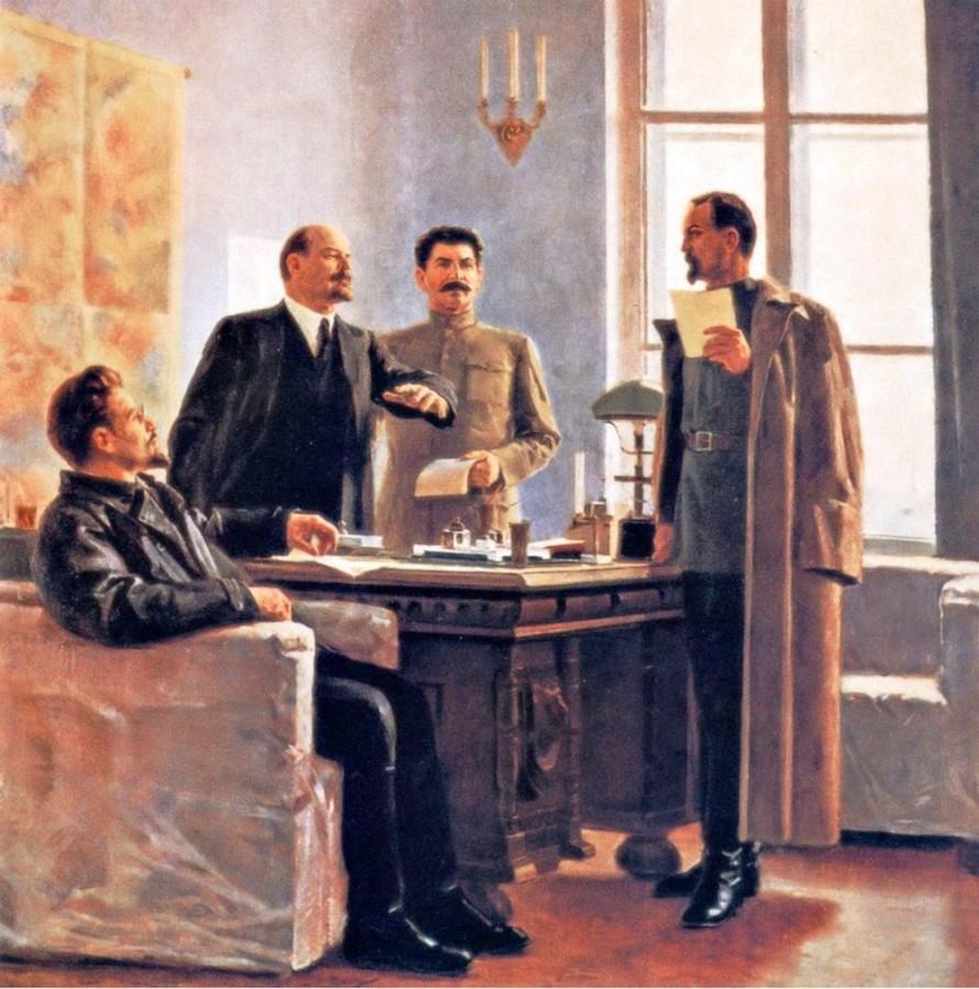 Н_П_Толкунов_Вручение Дзержинскому постановления об учреждении ВЧК