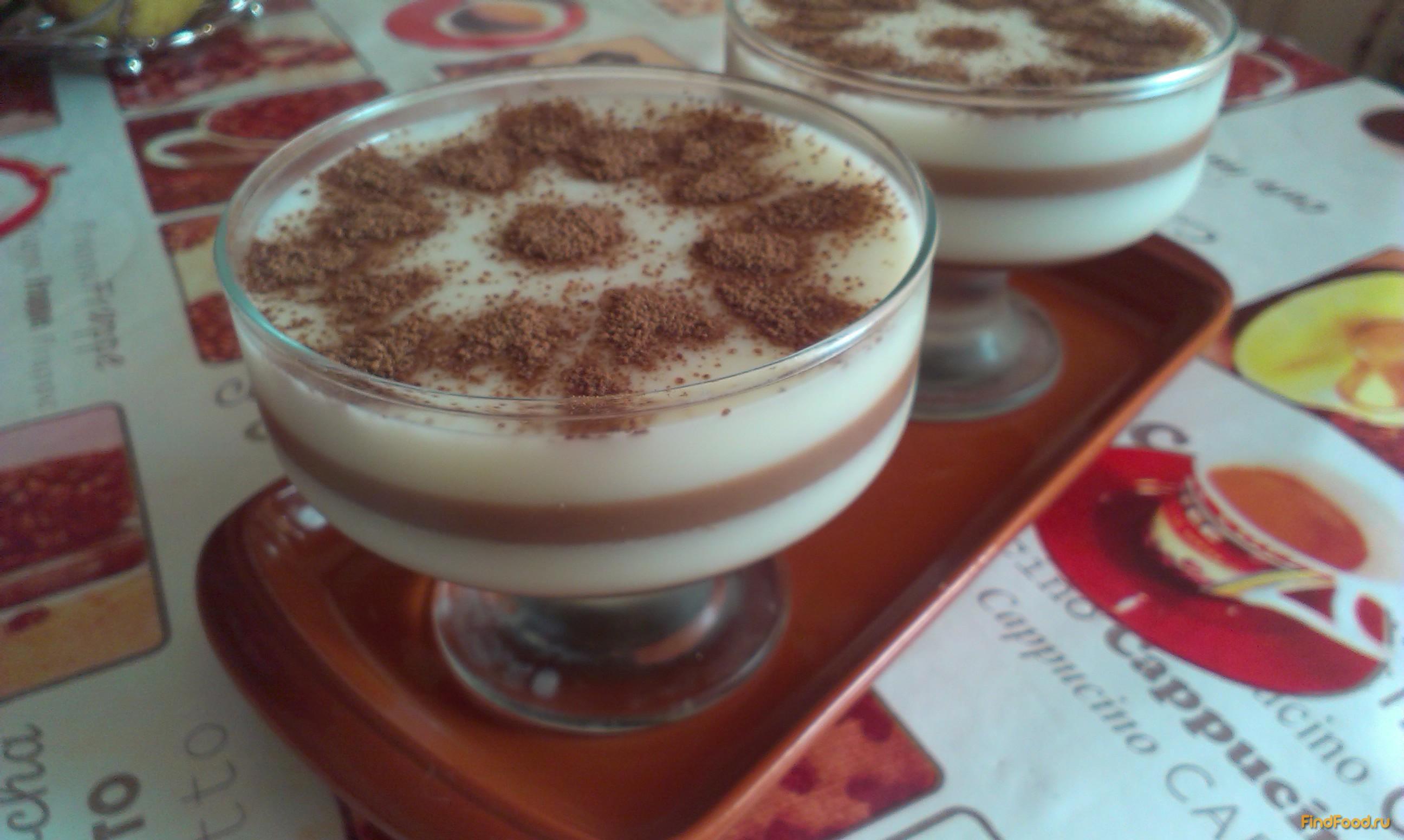 Желе молочное какао с фото
