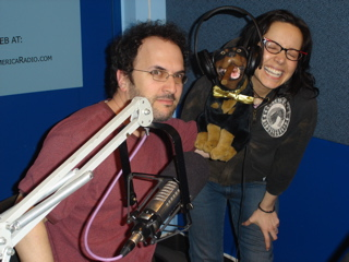 Janeane with Triumph