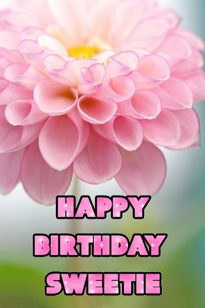 Pink Dahlia birthday graphic