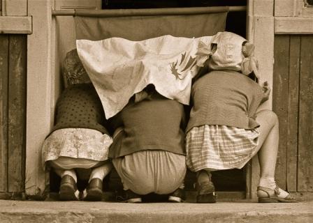 Девочки заранее готовятся