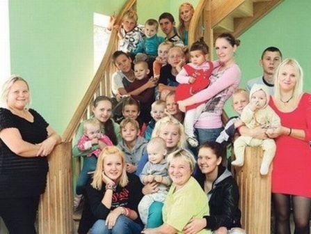 Интересная многодетная семья