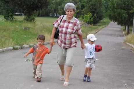 Вредная бабушка гуляет