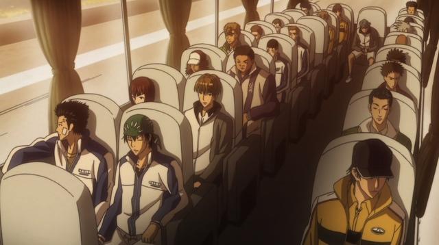 Tennis boys on the bus
