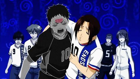 Araki leaning on angry Oda