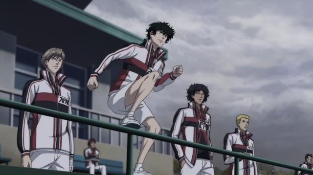Kirihara, stepping up on a railing