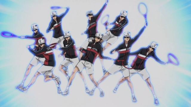 Nine Ryomas returning nine balls