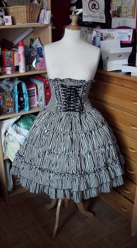 Stripped High-Waist SK (Atelier Pierrot)