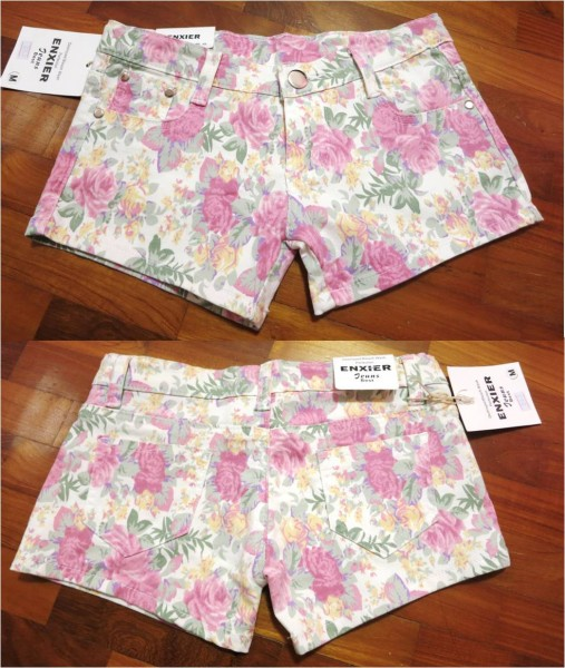 floral shorts