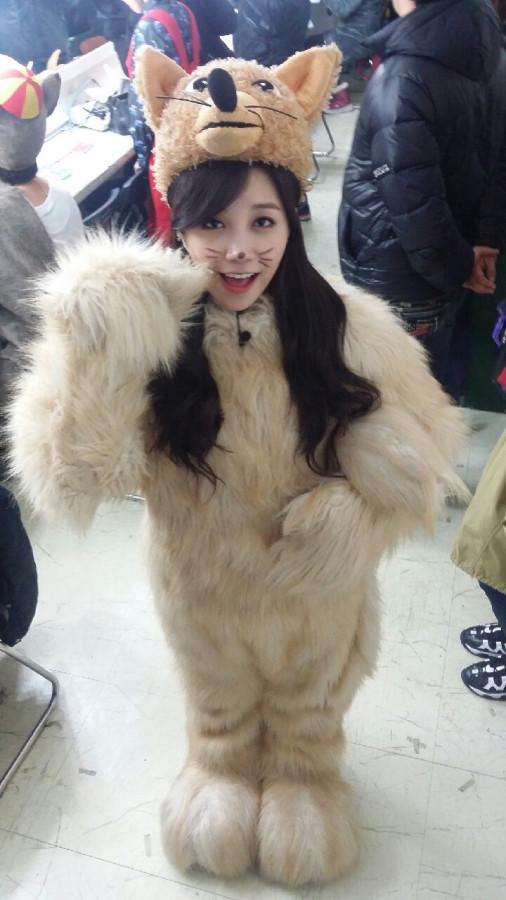 Eunji in fox suit