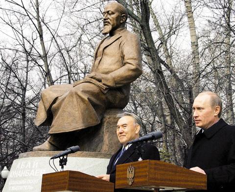ОккупайАбай Владимир Путин на церемонии открытия памятника Абаю, фото, приколы, юмор