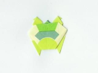 Folding paper turtle