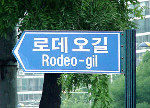 smaller Rodeo sign