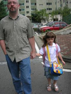 Heading off to school!