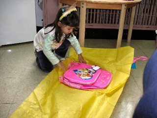 A Disney Princess backpack!!