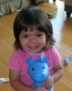Nadia's haircut - October 6, 2005