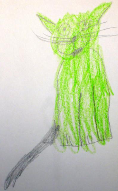 Light green kitty