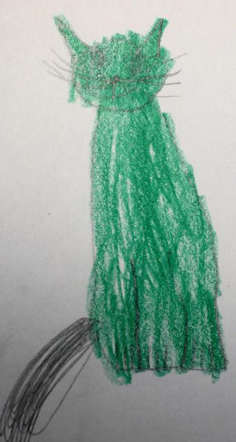 Dark green kitty
