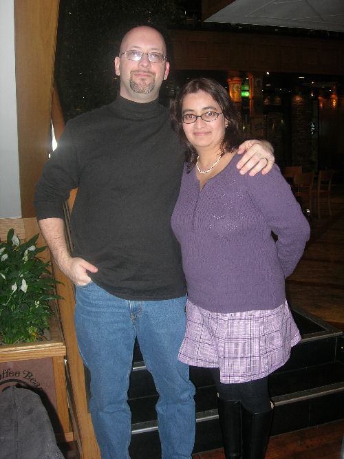 Chris and I at Coffee Bean