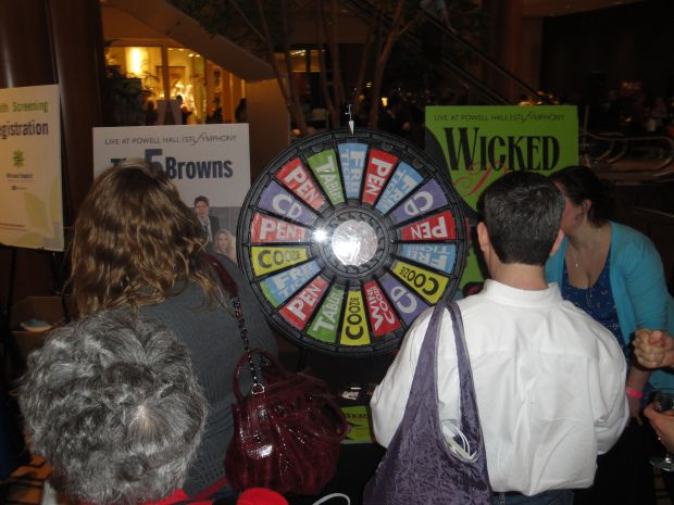 Wine and Chocolate Prize Wheel
