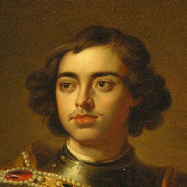 Портрет Петра I, фрагмент ,А.