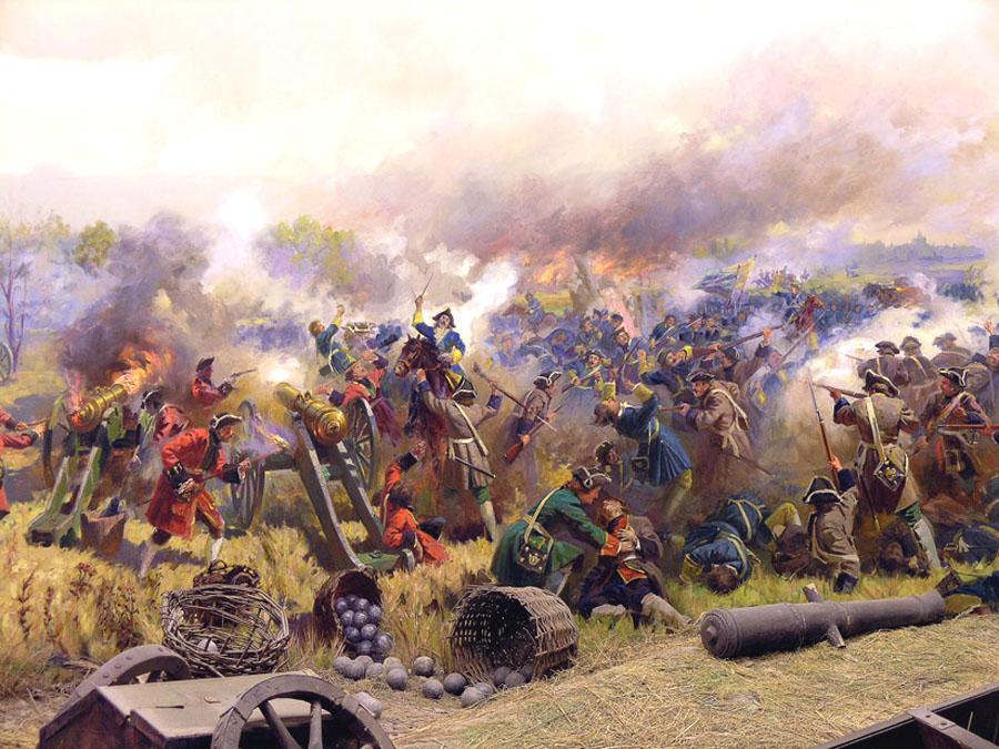 диорамы Полтавской битвы