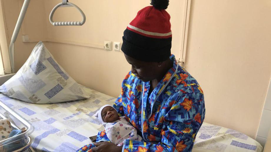 нигерийская болельщица