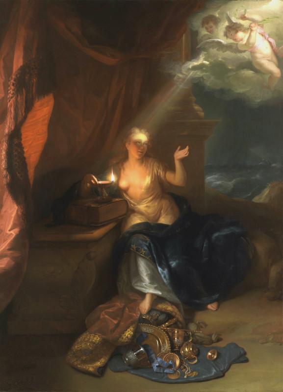 Годфридус Схалкен Кающаяся Мария Магдалина, 1700