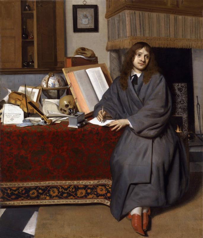 + CdM-Корнелис де Ман. Портрет фармацевта д-ра Изенбрандта Изенбрандтса 1667