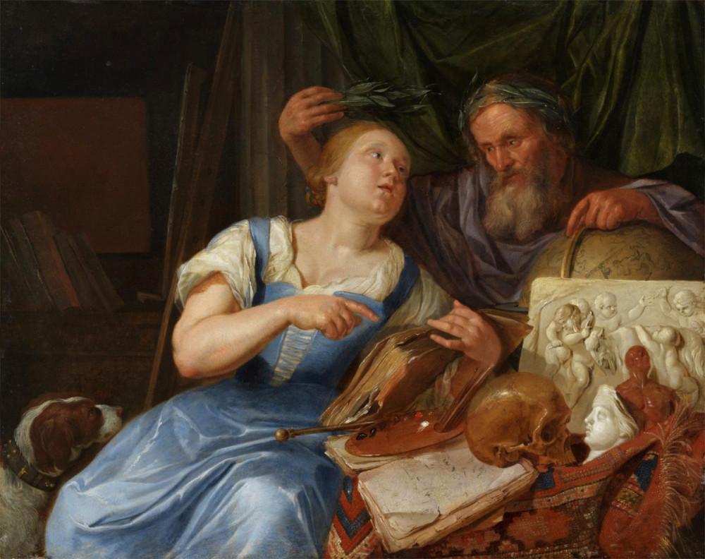 + Якоб Торенвлит (1640-1719). Аллегория живописи, около 1675-1679