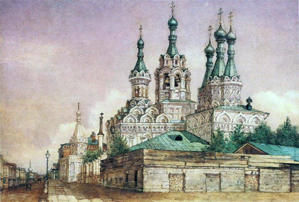 Вид церкви Рождества Богородицы в Путинках