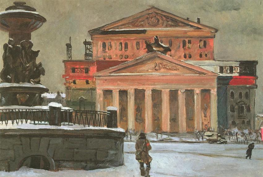=Площадь Свердлова в декабре 1941 года Александр ДЕЙНЕКА