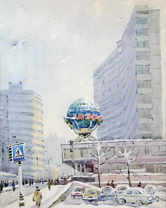 Антонина РОМОДОНОВСКАЯ Новый Арбат,  1965  год