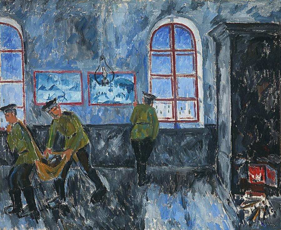 Утро в казармах, 1910 год, ТТГ