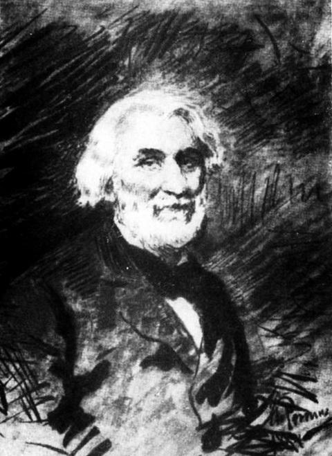 Рисунок тушью И.Е. Репина. 1884 г.