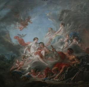 Вулкан, вручающий Венере оружие для Энея
