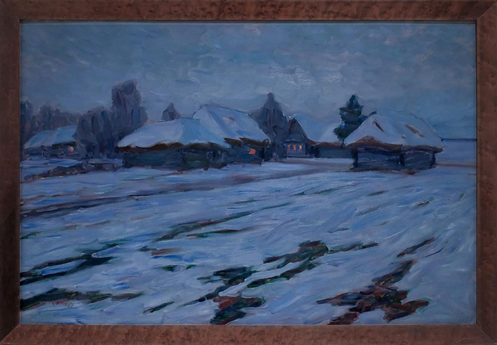 Зимний вечер. Деревня, 1905. ГТГ
