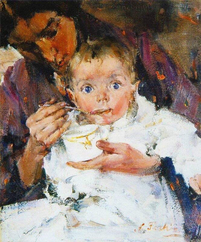 Мать и дитя, 1914 год.