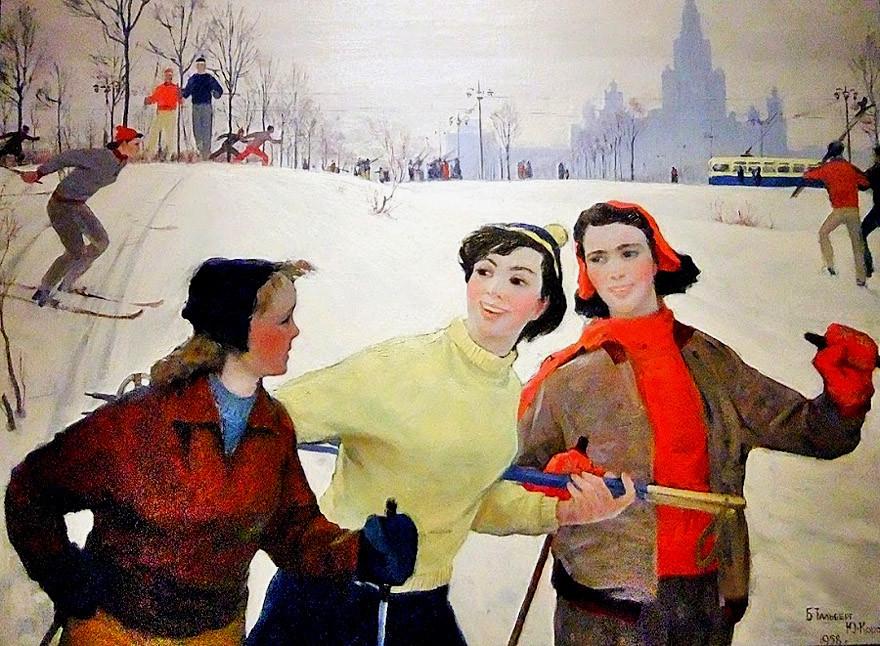 Б. Тальберг, Ю Королев. Москва, Ленгоры, 1958 год