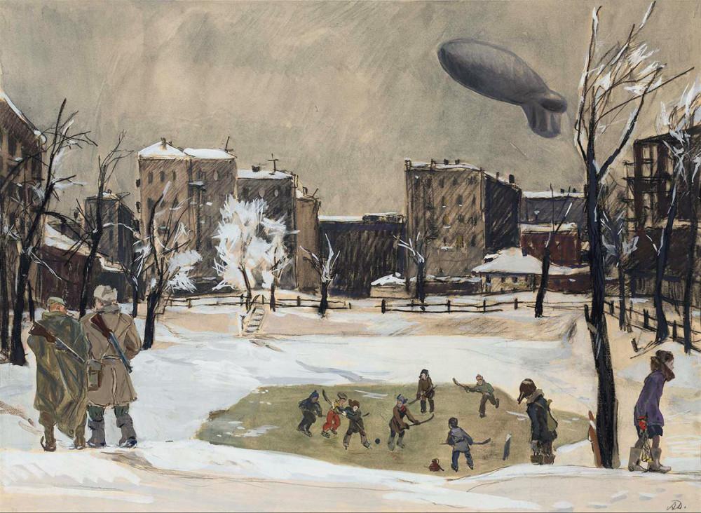 + Вечер. Патриаршие пруды, 1947 по Aleksandr Deyneka