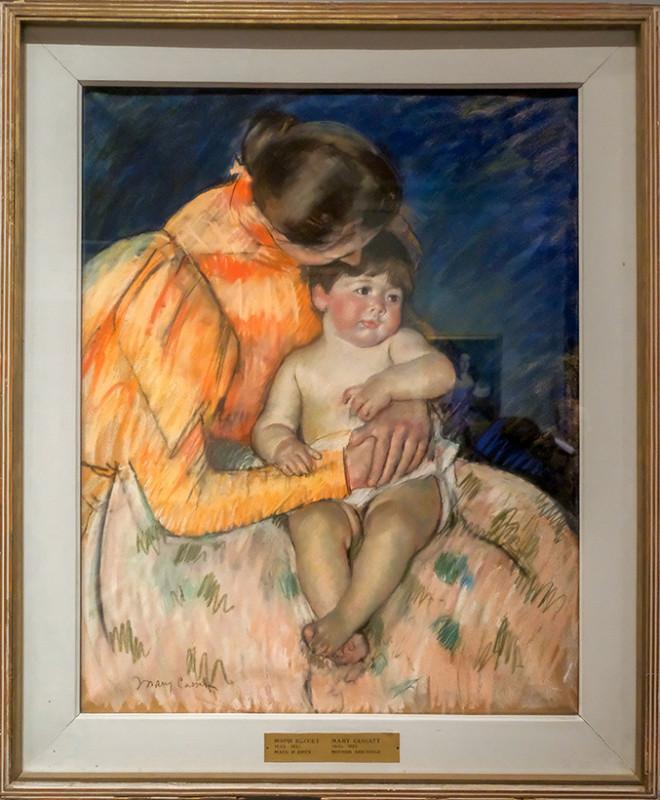 Мэри Кассет (1844-1926). Мать и дитя, начало XX века. Бумага, пастель. ГМИИ им. А.С. Пушкина
