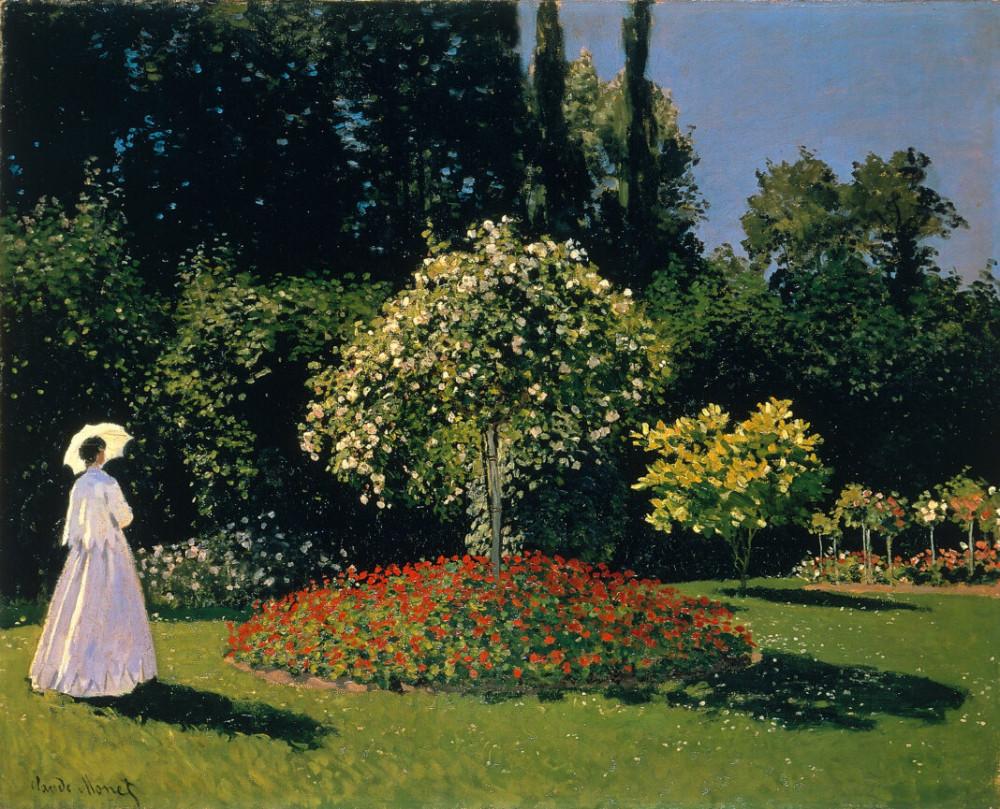 Клод Моне, Дама в саду Сент Андресс, 1867