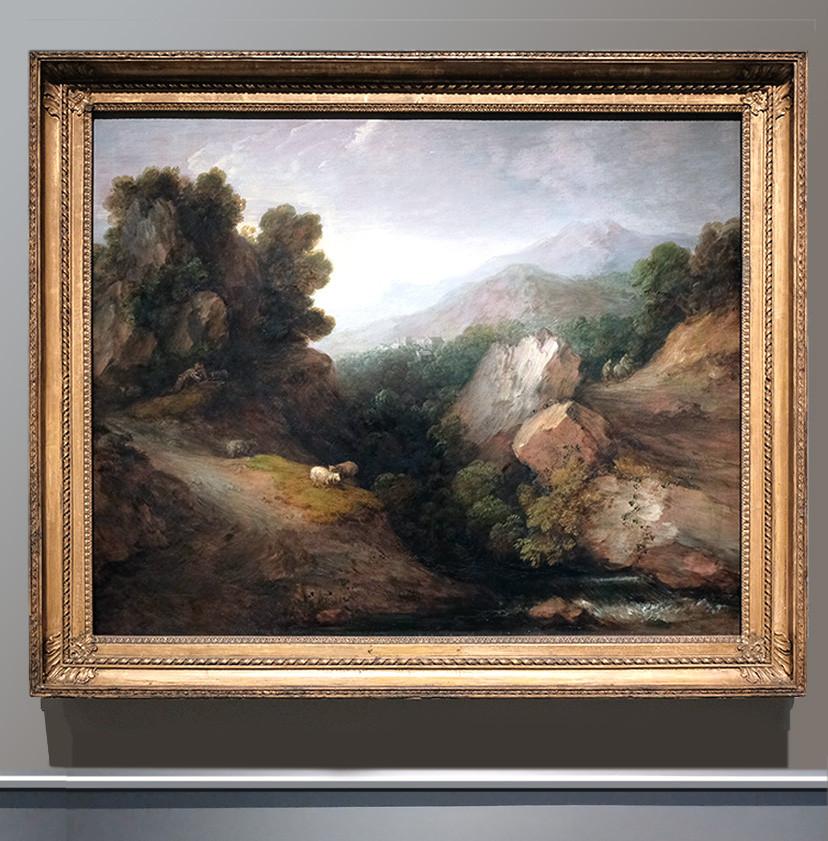 Скалистый пейзаж, 1783.