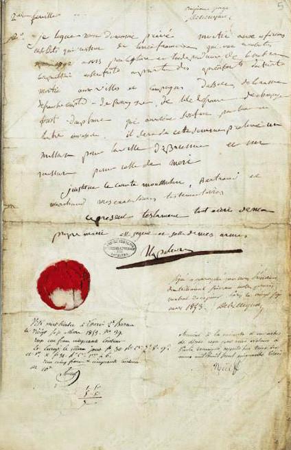 05.05 Завещание Наполеона. Национальный архив Франции