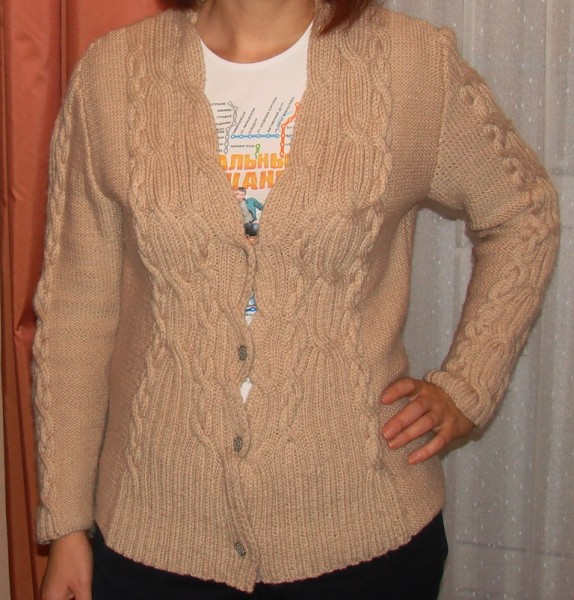 Женский свитер с косами с доставкой