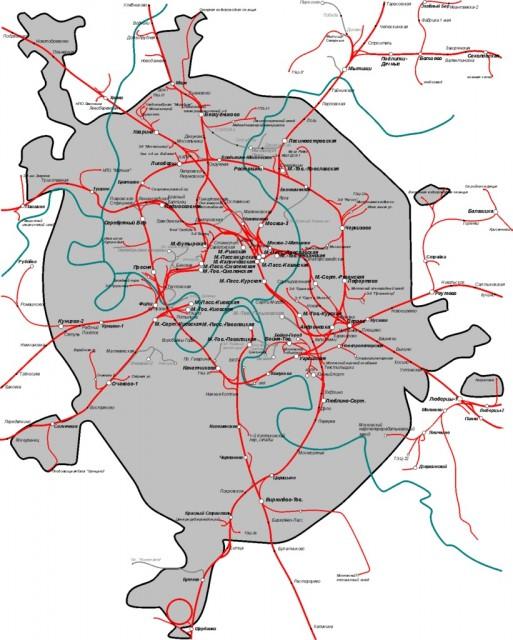 на схему железных дорог