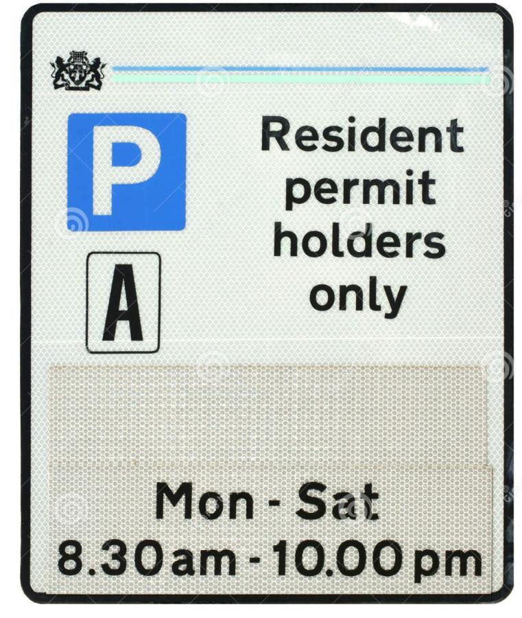 таблички с знаком парковки
