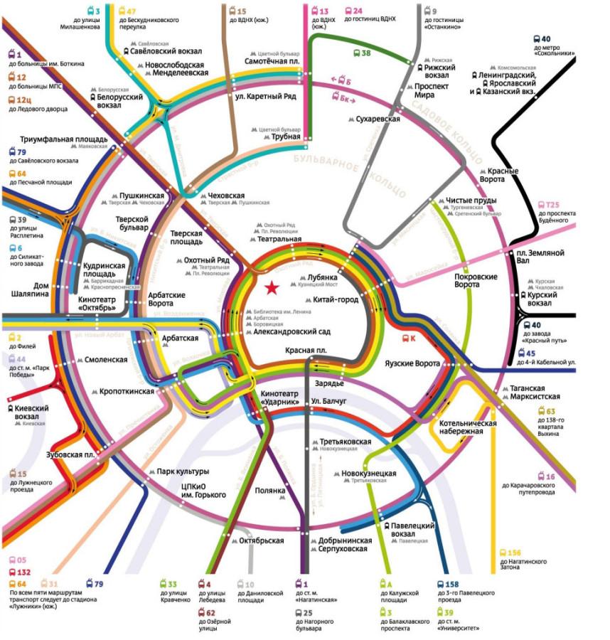 Карта новых маршрутов наземного транспорта магистраль
